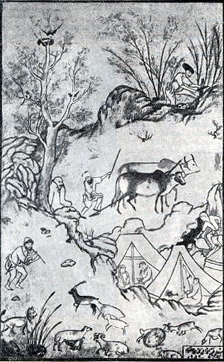 Сельскохозяйственные работы. Миниатюра Мохаммеда. 1578 г.