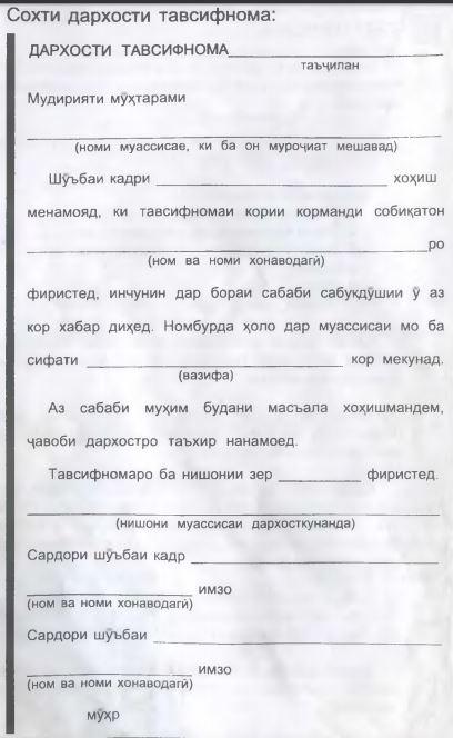 Тавсифнома