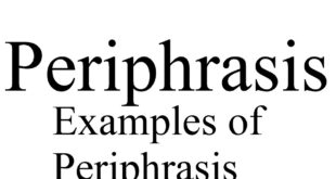 examples of periphrasis